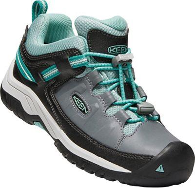 Keen Youth Targhee Low Waterproof Shoe - Steel Grey / Wasabi
