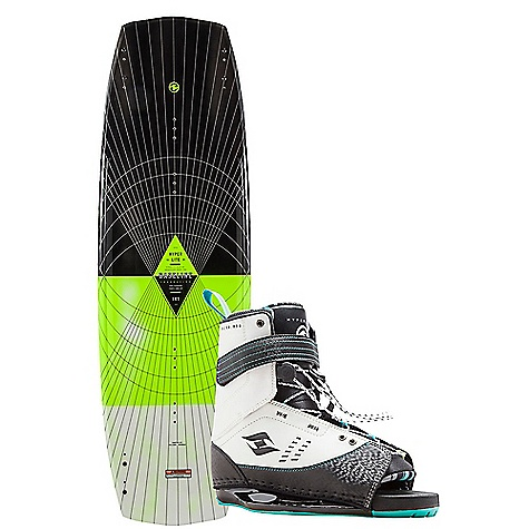Hyperlite Baseline 136cm Wakeboard with Focus Boots Package