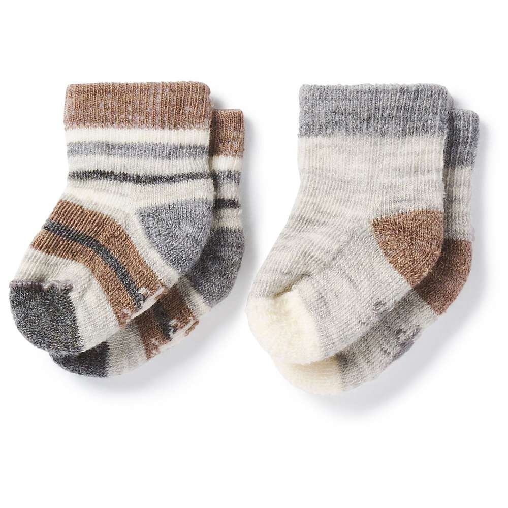Smartwool Baby Bootie Batch Sock - 2 Pack - 6M - Fossil Heather