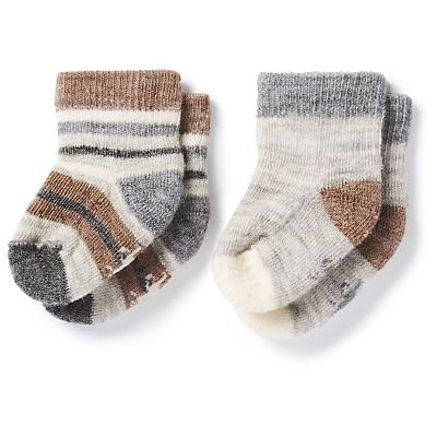 Smartwool Baby Bootie Batch Sock - 2 Pack - Fossil Heather