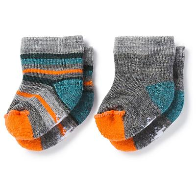 Smartwool Baby Bootie Batch Sock - 2 Pack - Medium Grey Heather / Mediterranean H