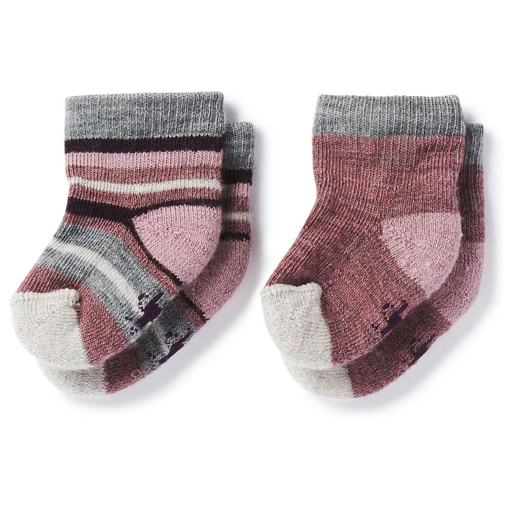 Smartwool Baby Bootie Batch Sock - 2 Pack - 6M - Nostalgia Rose Heather