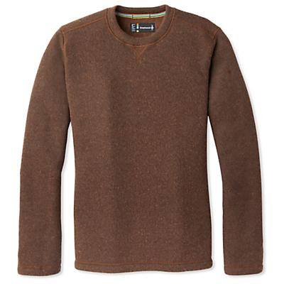 Smartwool Hudson Trail Fleece Crew Sweater - Bourbon Heather - Men