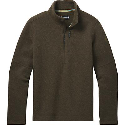 Smartwool Hudson Trail Fleece Half Zip Sweater - Military Olive - Men