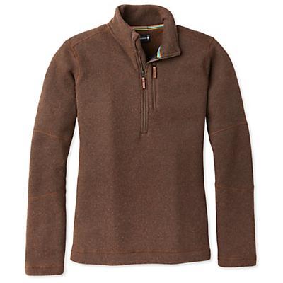 Smartwool Hudson Trail Fleece Half Zip Sweater - Bourbon Heather - Men