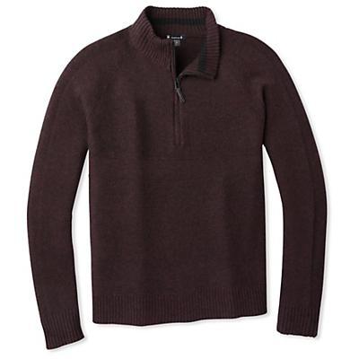 Smartwool Ripple Ridge Half Zip Sweater - Black / Woodsmoke Marl - Men