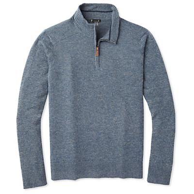 Smartwool Sparwood Half Zip Sweater - Alpine Blue / Medium Gray Marl - Men