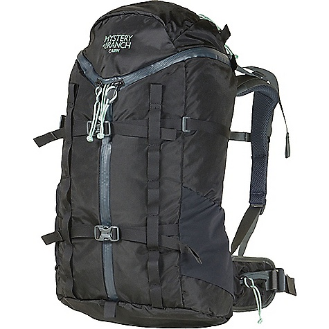 Mystery Ranch Women's Cairn Backpack Black Mystery Ranch Women's Cairn Backpack - Black - in stock now. FEATURES of the Mystery Ranch Women's Cairn Backpack 420D Robic nylon fabric and YKK? zippers 3-ZIP design for quick, easy access Zippered lid pocket to organize essentials Water bottle pockets keep hydration handy Two rows of daisy chain Hydration reservoir compatible Double-layered bottom for long-haul durability Women?s-specific adjustable yoke