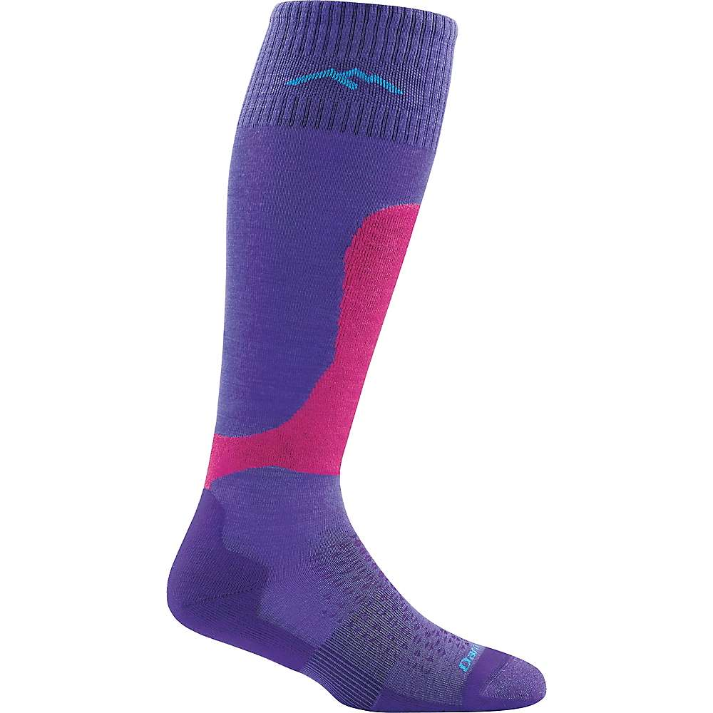 Darn Tough Women's Fall Line Over The Calf Padded Light Cushion Sock - Large - Purple