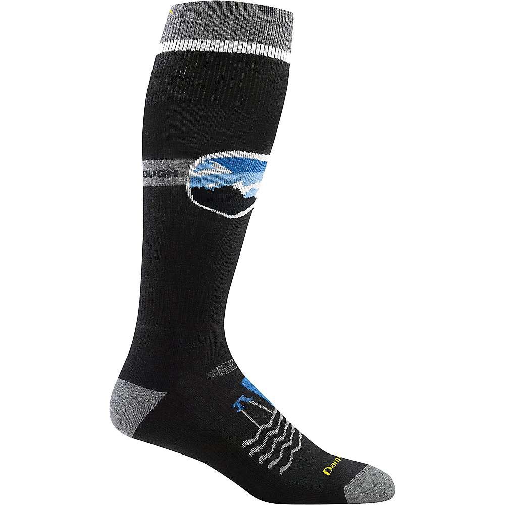Darn Tough Men's Goggle Guy Over The Calf Cushion Sock - XL - Black