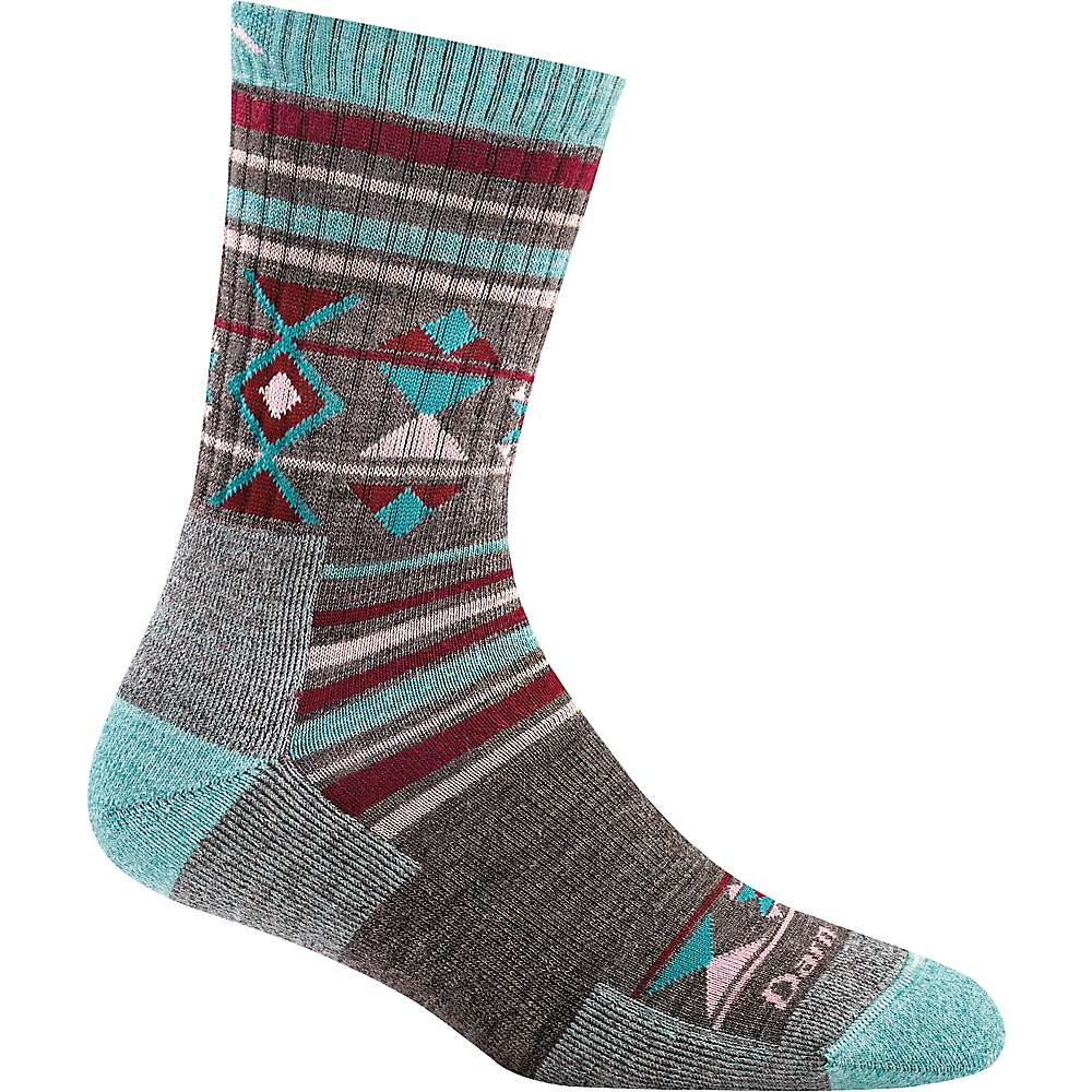 Darn Tough Women's Nobo Micro Crew Cushion Sock - Small - Teal