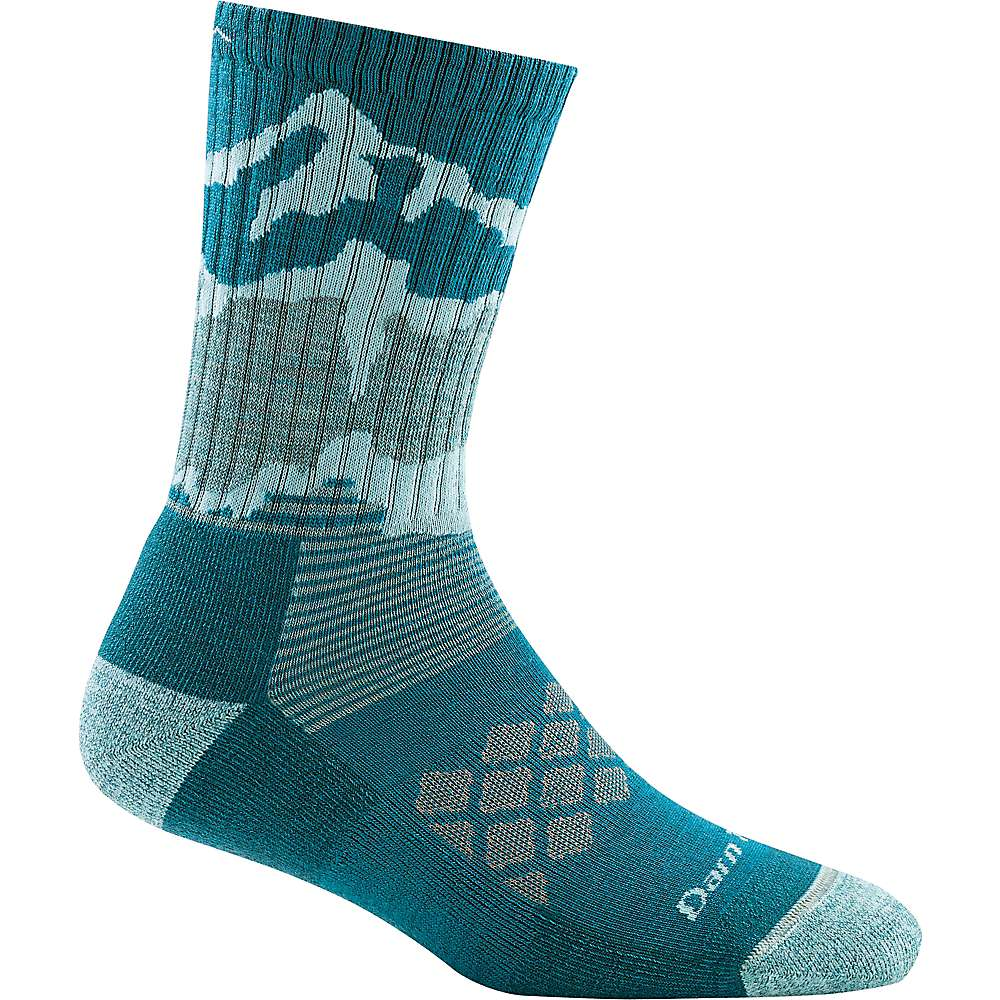 Darn Tough Women's Three Peaks Micro Crew Light Cushion Sock - Small - Teal