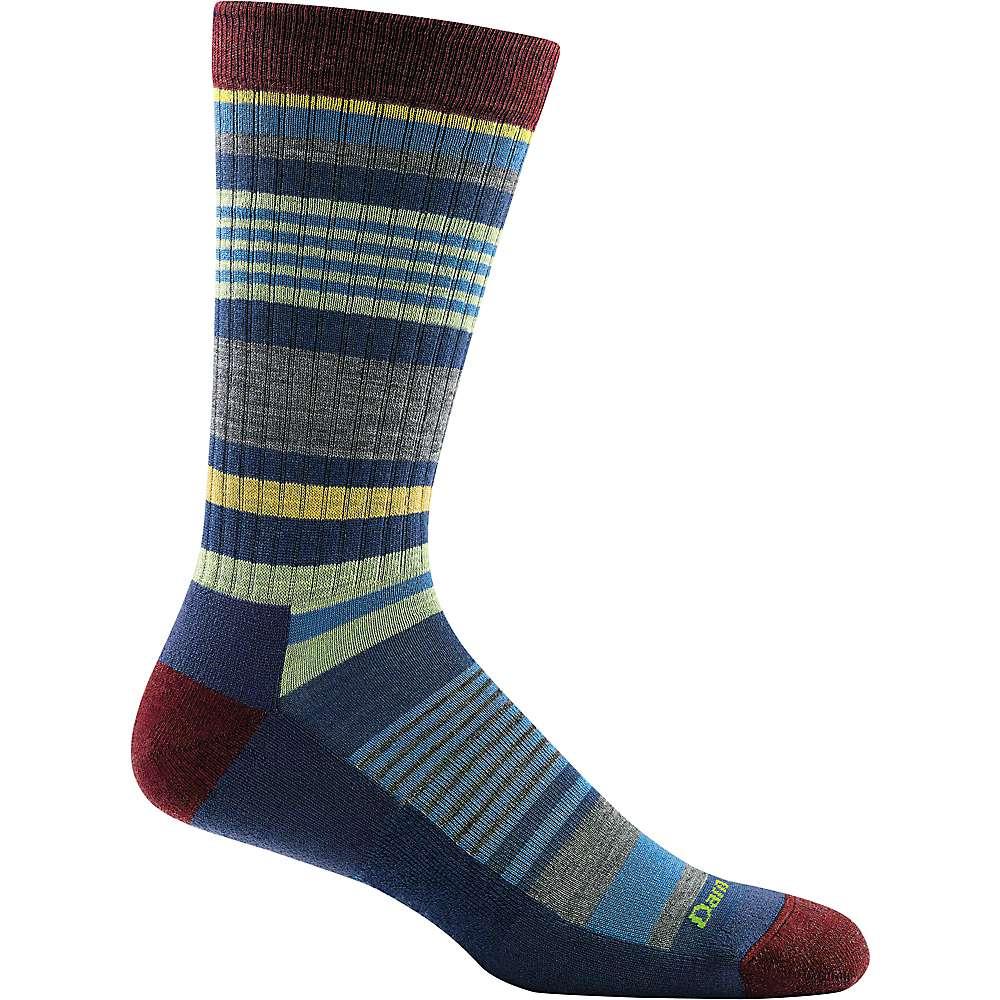 Darn Tough Men's Unstandard Stripe Crew Light Cushion Sock - Large - Denim