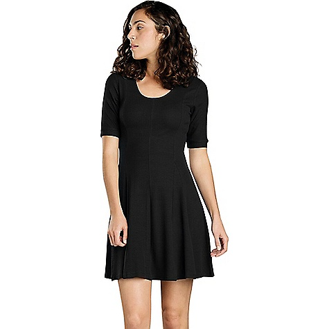 Toad & Co Women's Daisy Rib Cafe Sleeve Dress Black Toad & Co Women's Daisy Rib Cafe Sleeve Dress - Black - in stock now. FEATURES of the Toad & Co Women's Daisy Rib Cafe Sleeve DreShort Sleeve Stretch movement Moisture-wicking Wash-and-wear easy care OEKO-TEX 100 certified fabric Scoop neck Cafe sleeve Godets for flare fit