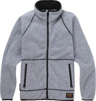 Burton Youth Spark Full-Zip Fleece Collar Jacket - Small - Grey Heather