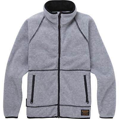 Burton Youth Spark Full-Zip Fleece Collar Jacket - Grey Heather