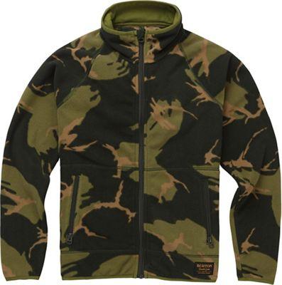 Burton Youth Spark Full-Zip Fleece Collar Jacket - Small - Mountain Camo