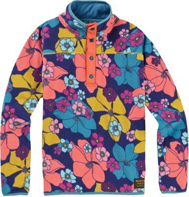 Burton Youth Spark Anorak Fleece Jacket - XS - Flowers!