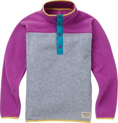 Burton Youth Spark Anorak Fleece Jacket - Small - Grey Heather / Grapseed