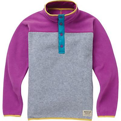 Burton Youth Spark Anorak Fleece Jacket - Grey Heather / Grapseed