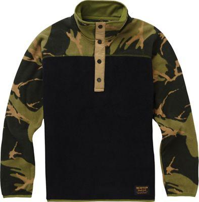 Burton Youth Spark Anorak Fleece Jacket - Medium - True Black / Mtn Camo