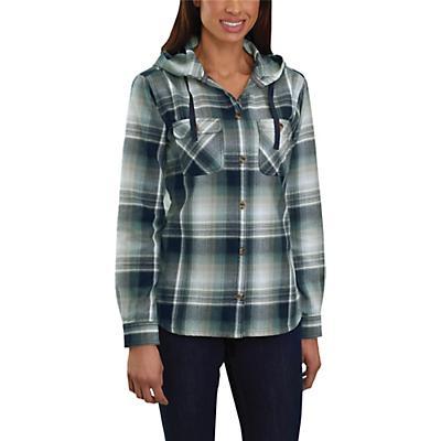 Carhartt Beartooth Hooded Flannel Shirt - Navy - Women