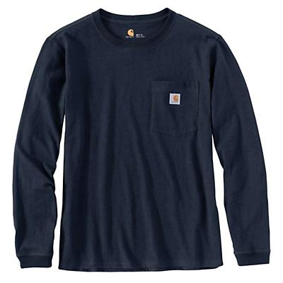 Carhartt WK126 Workwear Pocket LS T-Shirt - Navy - Women
