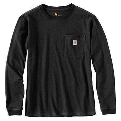 Carhartt WK126 Workwear Pocket LS T-Shirt - Black - Women