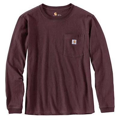 Carhartt WK126 Workwear Pocket LS T-Shirt - Deep Wine - Women