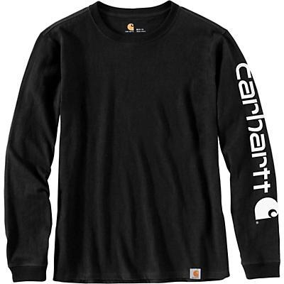 Carhartt WK231 Workwear Sleeve Logo LS T-Shirt - Black - Women