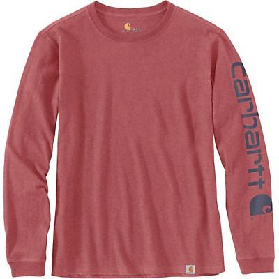 Carhartt WK231 Workwear Sleeve Logo LS T-Shirt - Claystone Heather - Women