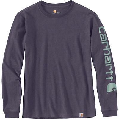 Carhartt WK231 Workwear Sleeve Logo LS T-Shirt - Greystone Heather - Women