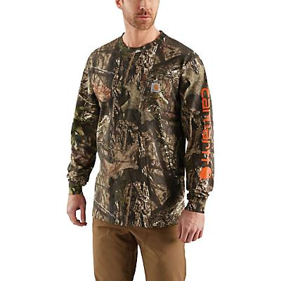 Carhartt Workwear Graphic Camo Sleeve LS T-Shirt - Mossy Oak Break-Up Country - Men