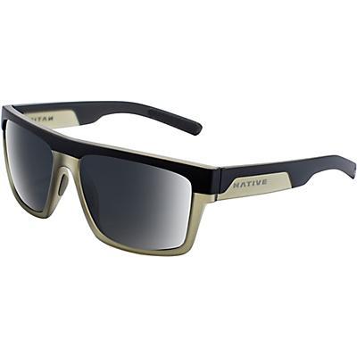 Native El Jefe Polarized Sunglasses - Matte Black / Olive / Grey Polarized