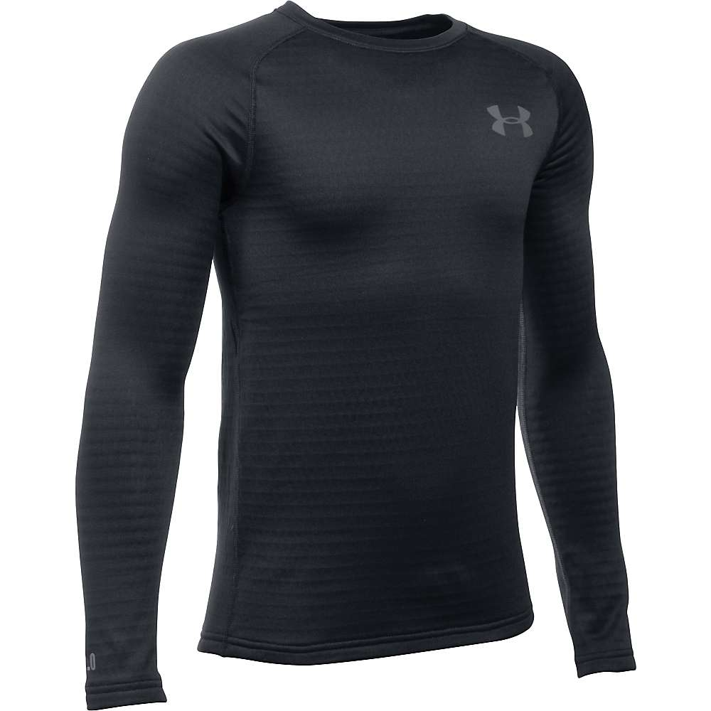 Under Armour Boys' UA Base 2.0 Crew Neck Top - Small - Black / Graphite