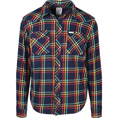 Topo Designs Plaid Mountain LS Shirt - Navy