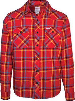 Topo Designs Plaid Mountain LS Shirt - Large - Red