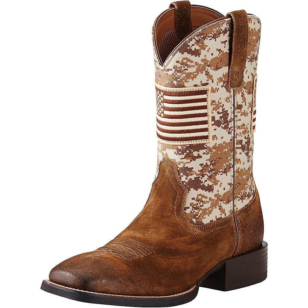 Ariat Men's Sport Patriot Boot - 12EE - Antique Mocha Suede/Sand Camo thumbnail
