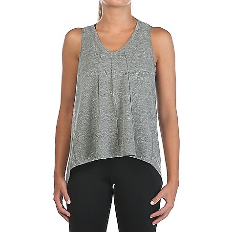 Vimmia Women's Pacific Tie Back V Neck Tuck Tank Top Heather Grey