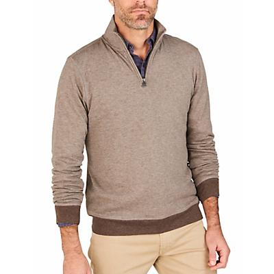 Faherty 1/4 Zip Sweater - Small - Chestnut