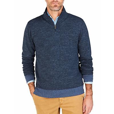 Faherty 1/4 Zip Sweater - XL - Navy