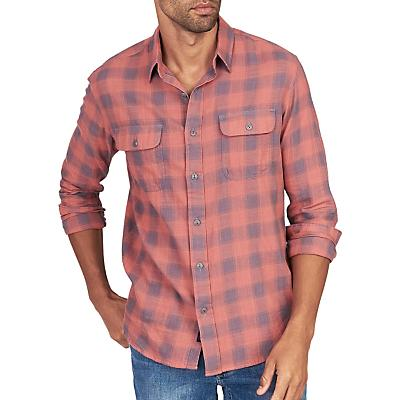 Faherty Belmar Long Sleeve Shirt - Dust Red Buffalo