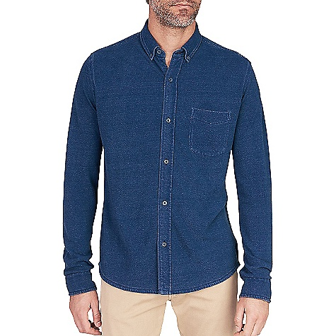 Faherty Knit Pacific Long Sleeve Shirt