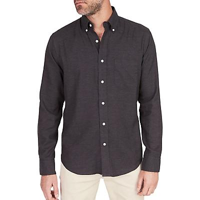 Faherty Melange Oxford Long Sleeve Shirt - Washed Black