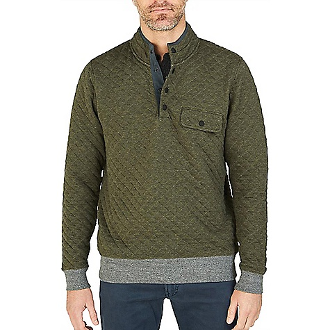 Faherty Quilted Snap Pullover Sweater