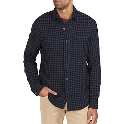 Faherty Reversible Belmar Long Sleeve Shirt - Charcoal Navy Check