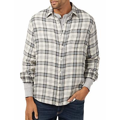Faherty Reversible Belmar Long Sleeve Shirt - Cream Charcoal Plaids