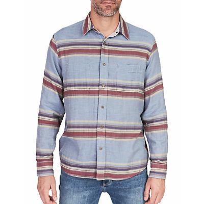Faherty Reversible Belmar Long Sleeve Shirt - Light Grey / Serape