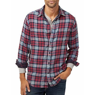 Faherty Reversible Belmar Long Sleeve Shirt - Vintage Red / Indigo