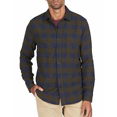 Faherty Seasons Long Sleeve Shirt - Navy Olive Buffalo